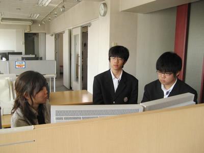 2008年明成高校インターンシップ一日目の様子
