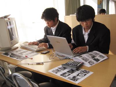 2008年明成高校インターンシップ二日目の様子